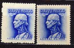 Slowakei / Slovakia, 1943/44, Mi 111 X + Y ** [060419XXV] - Slowakische Republik