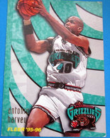 ANTONIO HARVEY CARDS NBA FLEER 95-96 N 344 GRIZZLIES - Trading Cards