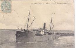 OUISTREHAM : BATEAU A VAPEUR QUITANT LE PORT.1906. N°13.ETAT CORRECT .PETIT PRIX.COMPAREZ!!! - Ouistreham