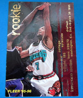 ROOKIE MOTEN CARDS NBA FLEER 95-96 N 369 GRIZZLIES - Trading Cards
