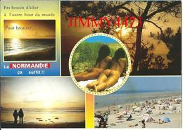 CPM -  2 FEMMES Fesses NUES - LA NORMANDIE 14 Calvados - Scans Recto-Verso - Romantiques < 1960