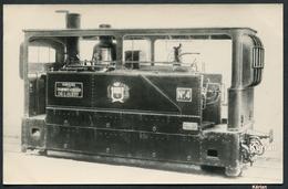 Phot. Cartonnée - Compagnie Des Tramways à Vapeur De L'OUEST - Pinguely N°4 Tramway Saumur-Fontevrault - Voir 2 Scans - Trains