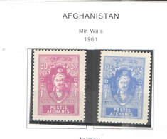 Afghanistan PO 1961 Mir Wais Scott.484+485+See Scan On Scott.Page; - Afghanistan