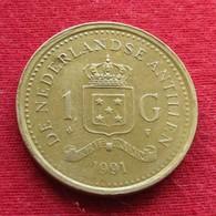 Netherlands Antilles 1 Gulden 1991 KM# 37  Antillen Antilhas Antille Antillas - Antille Olandesi