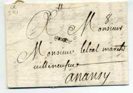 MP DE LYON  ( Lenain N°2  Ind 21  Côte 600€ )   /  Dept 68 Rhone / 1701 - 1701-1800: Precursores XVIII