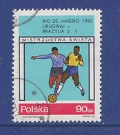 SOCCER FOOTBALL WORLD CHAMPIONSHIP MUNDIAL BRAZIL 1950 URUGUAY - BRAZIL 2:1 POLAND POLEN POLOGNE 1966 Mi 1668 Used - Fußball-Weltmeisterschaft