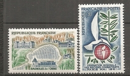 1961 Yv. N° 1292,1293   ** MNH   Anciens Combattants, Bagnolesde-l'Orne   Cote  0,8  Euro TBE - Frankreich