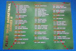 CHECK LIST  CARDS NBA FLEER 1996 N 389 - Trading Cards