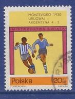 SOCCER FOOTBALL WORLD CHAMPIONSHIP MUNDIAL URUGUAY 1930 URUGUAY - ARGENTINA 4:2 POLAND POLEN POLOGNE Mi 1665 Used - Fußball-Weltmeisterschaft