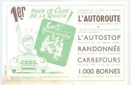 Buvard Jeu Jouez! Aux Jeux De Notre Temps 1er Pour Le Code De La Route! L'autoroute, ... Couleur Verte - Bambini