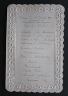Ancien MENU Dîner Du 23 Janvier 1877 - Gaufré Dentelle - Gastronomie - Noblesse XIXème - Menu