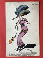 1912 - Illustrateur NAILLOD - 1er AVRIL - FEMME GRAND CHAPEAU BOURSE POISSON - GROTE HOED - HANDTAS VORM VAN EEN VIS - Naillod