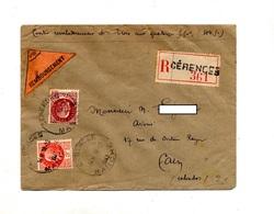 Lettre Recommandee Contre Remboursement  Cerences Sur Petain - Marcophilie (Lettres)