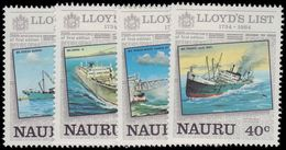 Nauru 1984 250th Anniv Of Lloyd's List (newspaper) Unmounted Mint. - Nauru