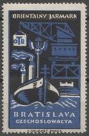 POLAND Ship Steamer Harbor Crane Port Maritime Czechoslovakia Bratislava Fair CINDERELLA LABEL VIGNETTE Orient - Labels
