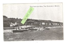 FRINTON ON SEA ESSEX THE SHELTER BEACH HUTS & BATHING HUTS USED 1929 - England