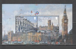 N582 GIBRALTAR ART ARCHITECTURE CALPE HOUSE BL136 1BL MNH - Architecture