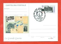 INTERI POSTALI-CARTOLINA POSTALE SOPRASTAMPA PRIVATA-MILITARII-MARCOFILIA-ALFONSINE-CENTENARIO DELLA VITTORIA - Guerra 1914-18