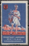 POLAND Sailing Ship DANUBE Czechoslovakia Bratislava CASTLE Fortress Fair CINDERELLA LABEL VIGNETTE Orient Crescent - Labels
