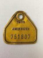 PLAQUES VÉLO ANTWERPEN «1978 (751807) - Number Plates