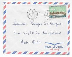 SPM - 1972 - ENVELOPPE Par AVION De ST PIERRE ET MIQUELON => MONTE CARLO (MONACO) - St.Pierre Et Miquelon