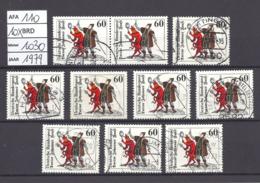 MiNr. 1030, Doctor Johannes Faust, 10 Stuks Gestempeld (AFA-110) - [7] République Fédérale