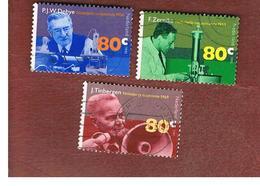 OLANDA (NETHERLANDS) - SG 1773.1775   - 1995 DUTCH NOBEL PRIZE WINNERS (COMPLET SET  OF 3)      -  USED - Usati