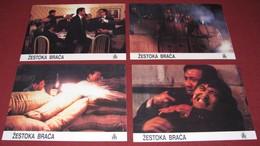 Yun-Fat Chow JIANG HU LONG HU MEN Alan Tang Pat Ha 4x Yugoslavian Lobby Cards - Foto's