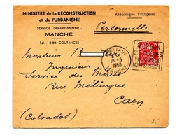 Lettre Flamme Daguin Mortain Cascade Vue Mont Saint Michel - Postmark Collection (Covers)