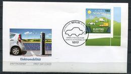 """Germany 2016 First Day Cover Mi.Nr.3265  Ersttagsbrief """"Umweltschutz,Elektromobilität,Windräder,E.Autos """"1 FDC - Umweltschutz Und Klima"""