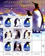 Marshall Islands 2011 Antarctic Treaty Penguins Minisheet MNH - Antarctic Wildlife