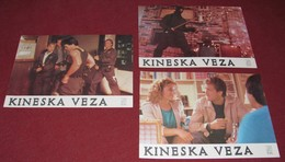 Yung Henry Yu CHINATOWN CONNECTION Lee Majors II - 3x Yugoslavian Lobby Cards - Photographs