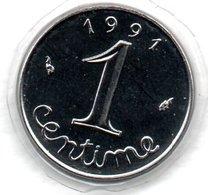 Epi -  1 Centime 1991 BU   -  état FDC - A. 1 Centime