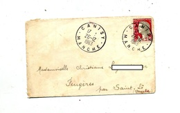 Lettre Cachet Canisy - Marcophilie (Lettres)
