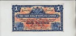 AB197. The Union Bank Of Scotland Ltd £1 Note 1st August 1940 #P/36 876726 FREE UK P+P - 1 Pound