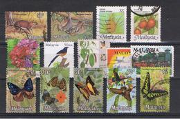 MALESIA:  1970/80  VARI  -  INSIEME  14  VAL. US. - Malesia (1964-...)