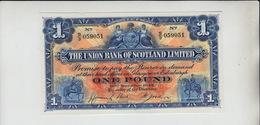 AB199. The Union Bank Of Scotland Ltd £1 Note 30th November 1942 #S/3 059051  FREE UK P+P - 1 Pound