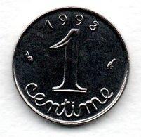 Epi -  1 Centime 1993   -  état SPL - France