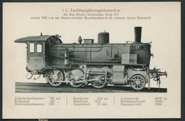 1 C Zwillingsgüterzuglokomotive - Der Kgl. Preuss. Stattsbahn Serie G5 - Voir 2 Scans - Treinen