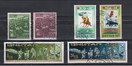 BHUTAN:  1970/80  VARI  -  6  VAL. US. - Bhutan