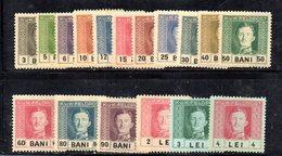 BIG/F - ROMANIA OCCUPAZIONE AUSTRIACA 1917 , Unificato Serie 18/34  *  Linguellata  (2380A) - Autriche