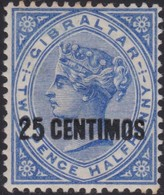 Gibraltar    .   SG  .    18      .   *        .    Mint-hinged       .   /    .   Ongebruikt - Gibraltar