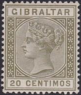 Gibraltar    .   SG  .    25      .   *        .    Mint-hinged       .   /    .   Ongebruikt - Gibraltar