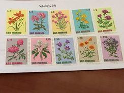 San Marino Flowers Mnh 1971 - San Marino