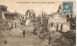 [80] Somme Montdidier Entree De La Rue De Paris Bombardement - Montdidier