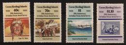 Cocos (Keeling) Islands, 1989 Measuring Flights 4v MNH - Cocos (Keeling) Islands