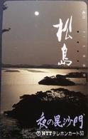 Telefonkarte Japan - Landschaft - Mondschein - 410-437 - Japan