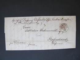BRIEF Raudnitz Roudnice - Grossrohosetz Rohozec 1857   //   D*37527 - Brieven En Documenten
