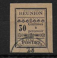 REUNION - 1889 - TAXE YVERT N°5 OBLITERE - COTE = 45 EUR. - Reunion Island (1852-1975)