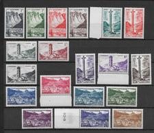 ANDORRE - SERIE COMPLETE YVERT N°138/153 ** MNH - COTE = 250 EUR. - French Andorra